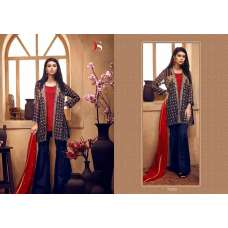 72005 NAVY BLUE DEEPSY CHINON PAKISTANI STYLE SALWAR SUIT