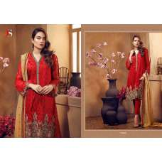 72007 RED DEEPSY CHINON PAKISTANI STYLE SALWAR SUIT