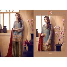 72008 GREY AND GOLD DEEPSY CHINON PAKISTANI STYLE SALWAR SUIT