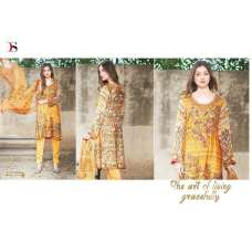 50005 YELLOW DEEPSY FLORENT PAKISTANI STYLE PURE COTTON SALWAR KAMEEZ