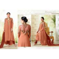 MF73012 PEACH AND BROWN COLOUR ELEZITA DESIGNER SALWAR KAMEEZ SUIT