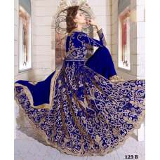 Z-12003A BLUE ZOYA GLITERZ STYLISH WEDDING WEAR DRESS (5 PIECE SUIT)