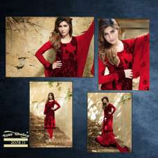 FMN-2078-D RED FEMEENA GEORGETTE SALWAR SUIT