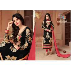 1204 Black and Pink First Choice Embroidered Salwar Kameez Suit