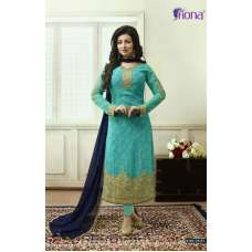 21171 TURQUOISE FIONA AYESHA TAKIA PARTY WEAR SALWAR SUIT