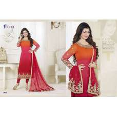 21053 RED AND ORANGE FIONA AYESHA TAKIA PARTY WEAR SALWAR SUIT