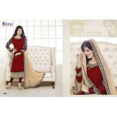 21052 RED FIONA AYESHA TAKIA PARTY WEAR SALWAR SUIT