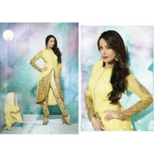 GL3805 Buttercup Yellow GLOSSY MALAIKA ARORA ANARKALI DRESS