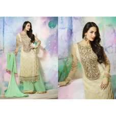 GL3808 Gold With Green GLOSSY MALAIKA ARORA ANARKALI DRESS