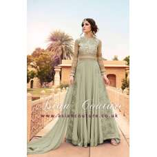 LIGHT GREEN WEDDING WEAR GOWN MANUFACTURED BY ASIAN COUTURE