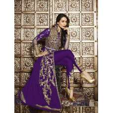 6206-A PURPLE GLOSSY MALAIKA ARORA KHAN WEDDING WEAR GEORGETTE SUIT