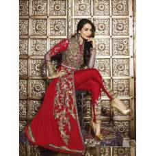 6206-C RED GLOSSY MALAIKA ARORA KHAN WEDDING WEAR GEORGETTE SUIT