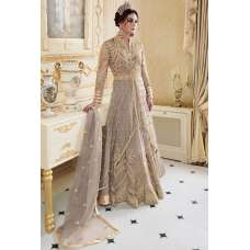SPECTACULAR SMOKE GREY INDIAN & PAKISTANI DESIGNER PARTY AND WEDDING WEAR FANCY ANARKALI GOWN