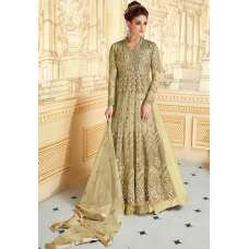 STUNNING MEHNDI INDIAN & PAKISTANI DESIGNER PARTY AND WEDDING WEAR FANCY ANARKALI GOWN