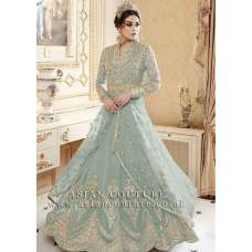 GREEN INDIAN MAXI EVENING WEDDING DRESS