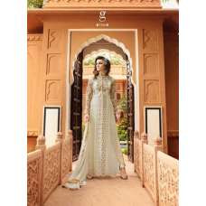 7105 OFF WHITE GLOSSY DESIGNER GEORGETTE SUIT