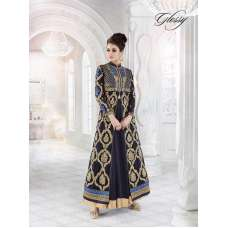 7216 BLACK GLOSSY SAPPHIRE WEDDING WEAR DESIGNER DRESS