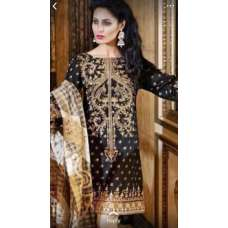 Black Embroidered Gul Ahmad Dress