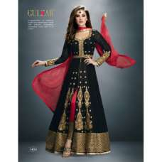 1404 GULZAR BLACK GEORGETTE WEDDING WEARS DRESS