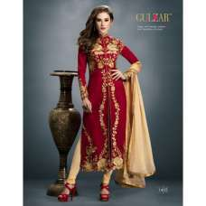 1405 GULZAR RED AND CREAM COLOUR GEORGETTE WEDDING WEAR DRESS