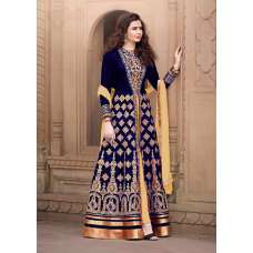 AN1507-A DARK BLUE ANAYA SEMI STITCHED ANARKALI SUIT