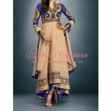 BEAUTIFUL BLUE SHEONA WEDDING WEAR LEHENGA DRESS- Gulzar Orginial