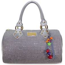 LS7002 - Silver Grey Diamante Fashion Handbag