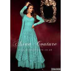 HR5038-A MINT HEROINE PRIYANKA CHOPRA ANARKALI STYLE DRESS