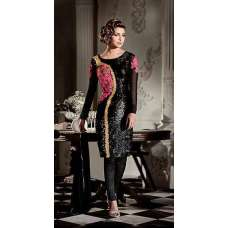 AHR5119 BLACK COLOUR HEROINE PRIYANKA CHOPRA STYLISH SEMI STITCHED DRESS