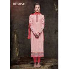 5134 ROSE QUARTZ PINK HEROINE STARLET GEORGETTE STRAIGHT CUT STYLE SUIT