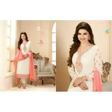 Cream Indian Designer Part Wear Salwar Suit