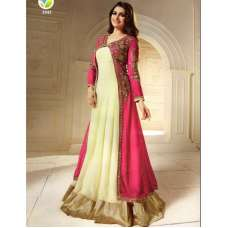 K2942 Cream And Pink  KASEESH PRACHI Anarkali Wear