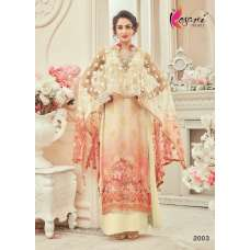 2003 BEIGE KESARI GEORGETTE PARTY WEAR SUIT