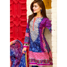 Khaadi Embroided Shirt with Shalwar &Dupatta [ Replica ]
