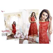 301 RED LT NITIA READY MADE GEORGETTE EMBROIDERED KURTI