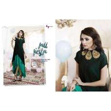 306 BLACK LT NITIA READY MADE GEORGETTE EMBROIDERED KURTI