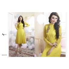 311 YELLOW LT NITIA READY MADE GEORGETTE EMBROIDERED KURTI
