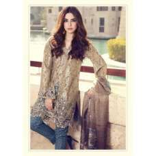 55002 BROWN MARIA B LAWN PAKISTANI STYLE SUIT