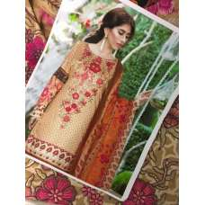 CARAMEL FLORAL PAKISTANI SALWAR READY MADE SUIT