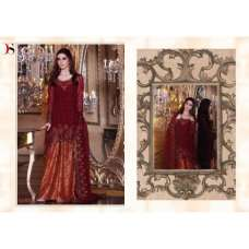 BD-1003 MAROON MARIA.B. MBROIDERED PARTY WEAR DRESS
