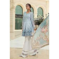 D1810-A SKY BLUE MARIA B LUXURY READY TO WEAR SPRING LAWN SUIT