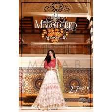 4037 PINK AND WHITE MARIA B PAKISTANI STYLE LEHNGA