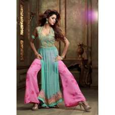 ML2407 Sea Blue And Pink Lavish By Maisha Party Dress