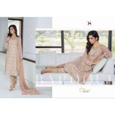 7003 LIGHT BROWN BAROQUE BY DEEPSY GEORGETTE PAKISTANI STYLE SUIT