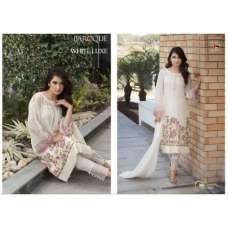 7004 WHITE BAROQUE BY DEEPSY GEORGETTE PAKISTANI STYLE SUIT