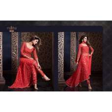 MS2301 - RED MAISHA HARMAN PARTY WEAR SUIT