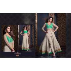 MS2304- Green And Cream MAISHA HARMAN PARTY WEAR SUIT