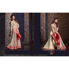 MS2312 - Cream And Red HARMAN PARTY WEAR SUIT