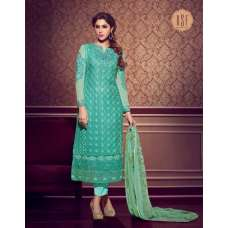 10142 SEA BLUE RSF RIYAL INDIAN PARTY WEAR SUIT
