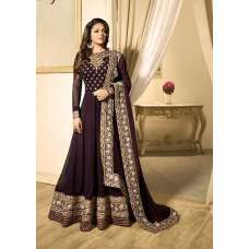 EID DRESS COLLECTION 2018: PURPLE EMBELLISHED ANARKALI SUIT